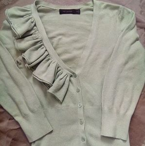 'The Limited' Pastel Green Cardigan. XS